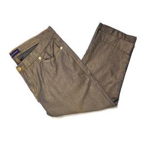 Rock & Republic metallic cropped jeans